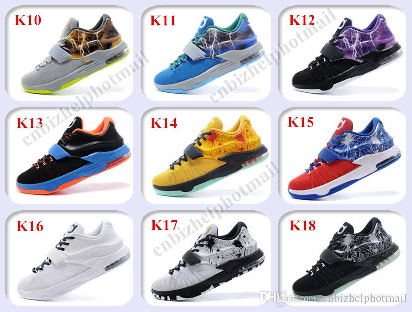 finest selection 7ee80 97828 2015 New Kevin Durant KD 7 Basketball Shoes Men KDs 7 VII The Thor Mens  Basketball Shoes Size 7-12