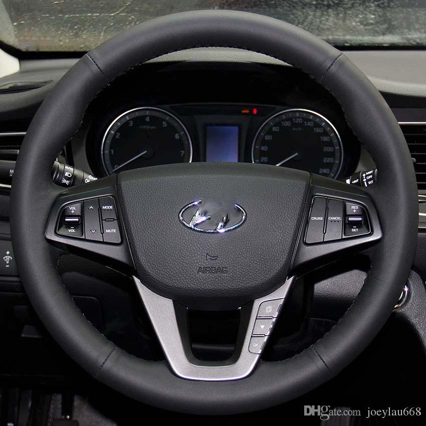 Чехол для HYUNDAI MISTRA руль обложка натуральная кожа стайлинга автомобилей автомобиля DIY ручной сшитые крышки рулевого колеса