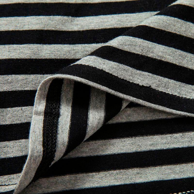 2016 Men t shirts tyga hip hop swag striped long sleeve t shirt extended kanye west men oversized tee shirt homme t shirt men (10)