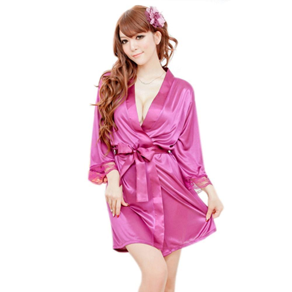 도매 패션 여성 잠옷 ROBE 가운 + G- 문자열 끈 팬티 잠옷 란제리 Nightdress XL012