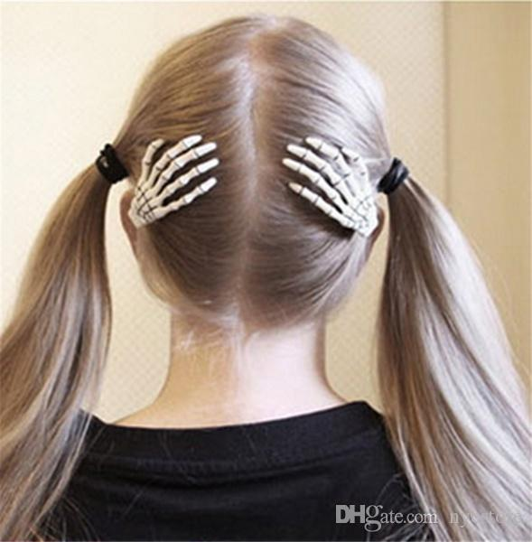 New Skull Hand Bone Hairpin Gripper Ghost Skeleton Hair Clips Hairclips