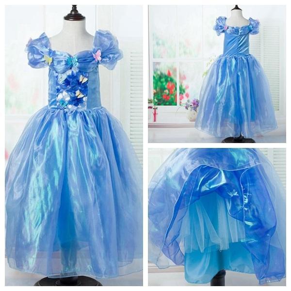 Külkedisi prenses fantezi kelebek elbise 2015 kızlar parti prenses abiye pageant elbise stokta ücretsiz kargo