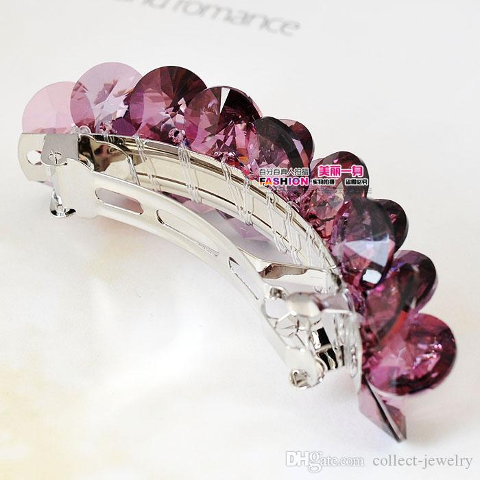 purple crystal pcs lady's hairpin (25mm*85mm*55mm( ( ming))