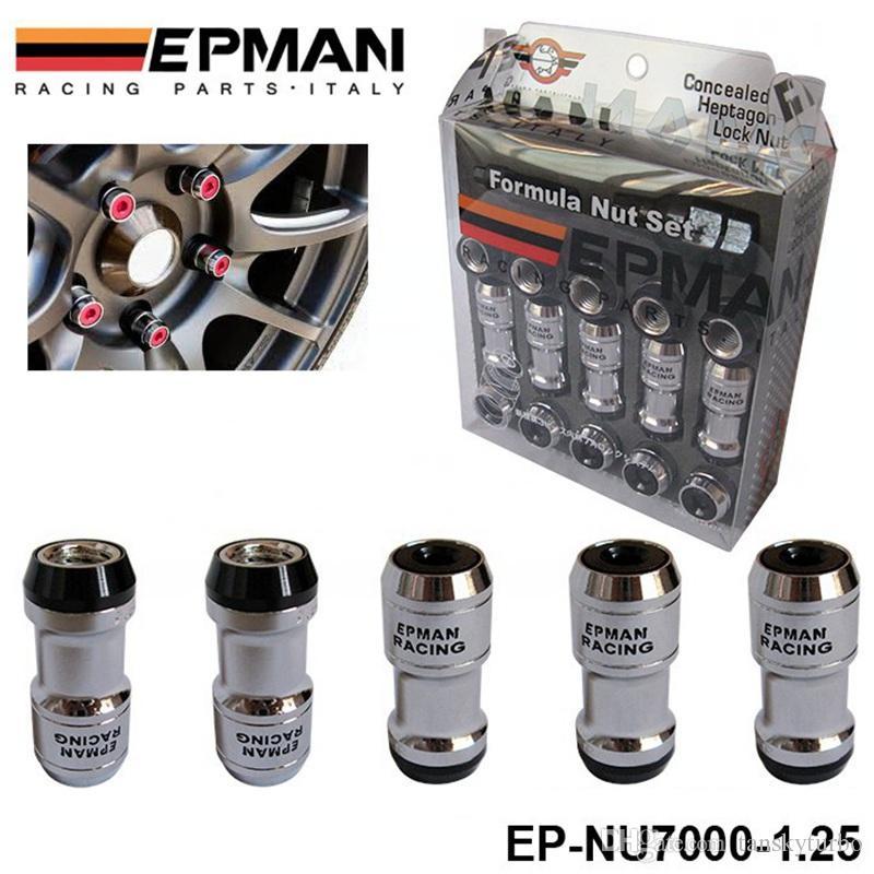 Authentische Epman Racing Nase Radmuttern Schraube M12 x 1,25 20pcs Auto Für Toyota Für Volk Rays Stey Red EP-NU7000-1.25
