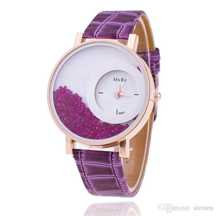 2015 New Fashion Sandglass Watch Leather watches Women Quartz Watch Womens Watch 8 colors