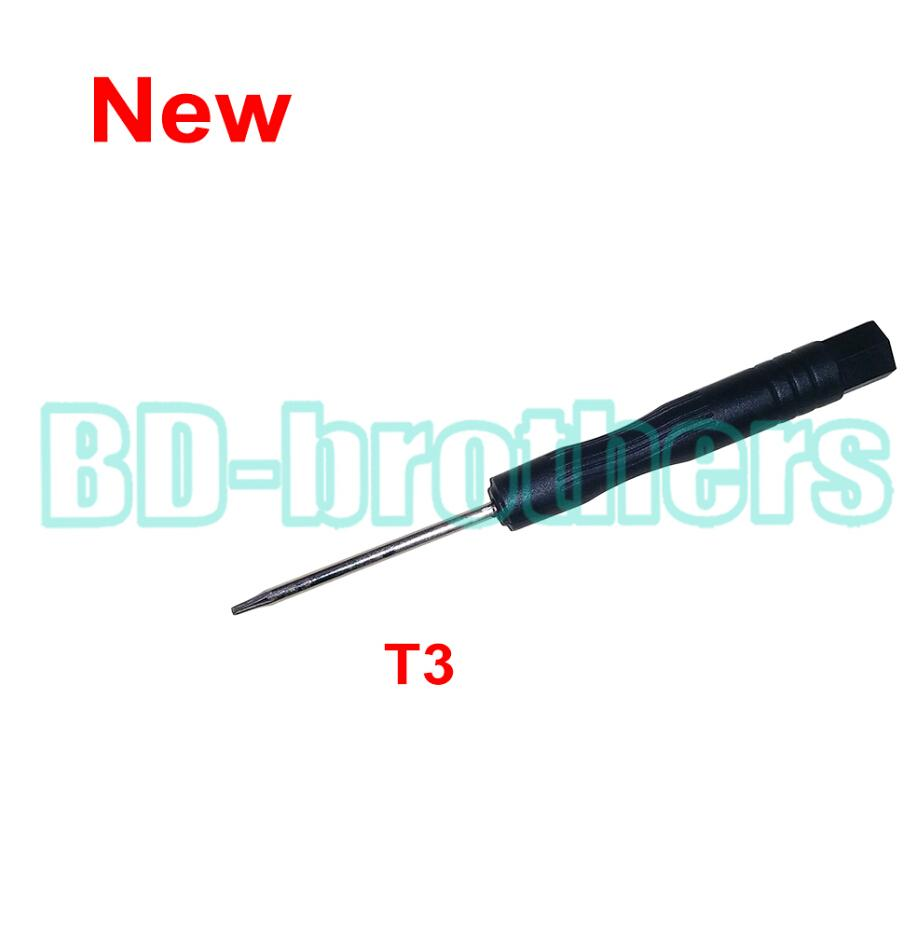 Nouveau tournevis Tournevis Torx T3 noir tournevis Torx outil ouvert outil de réparation de carte de circuit imprimé de téléphone 3000pcs / lot