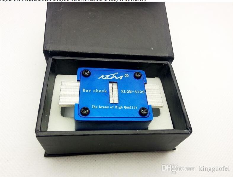 원래 KLOM 3100 키 확인 키홈 확인 자동 자물쇠 도구 검사기 잠금 선택 세트 Lockpick 키 측정 기계