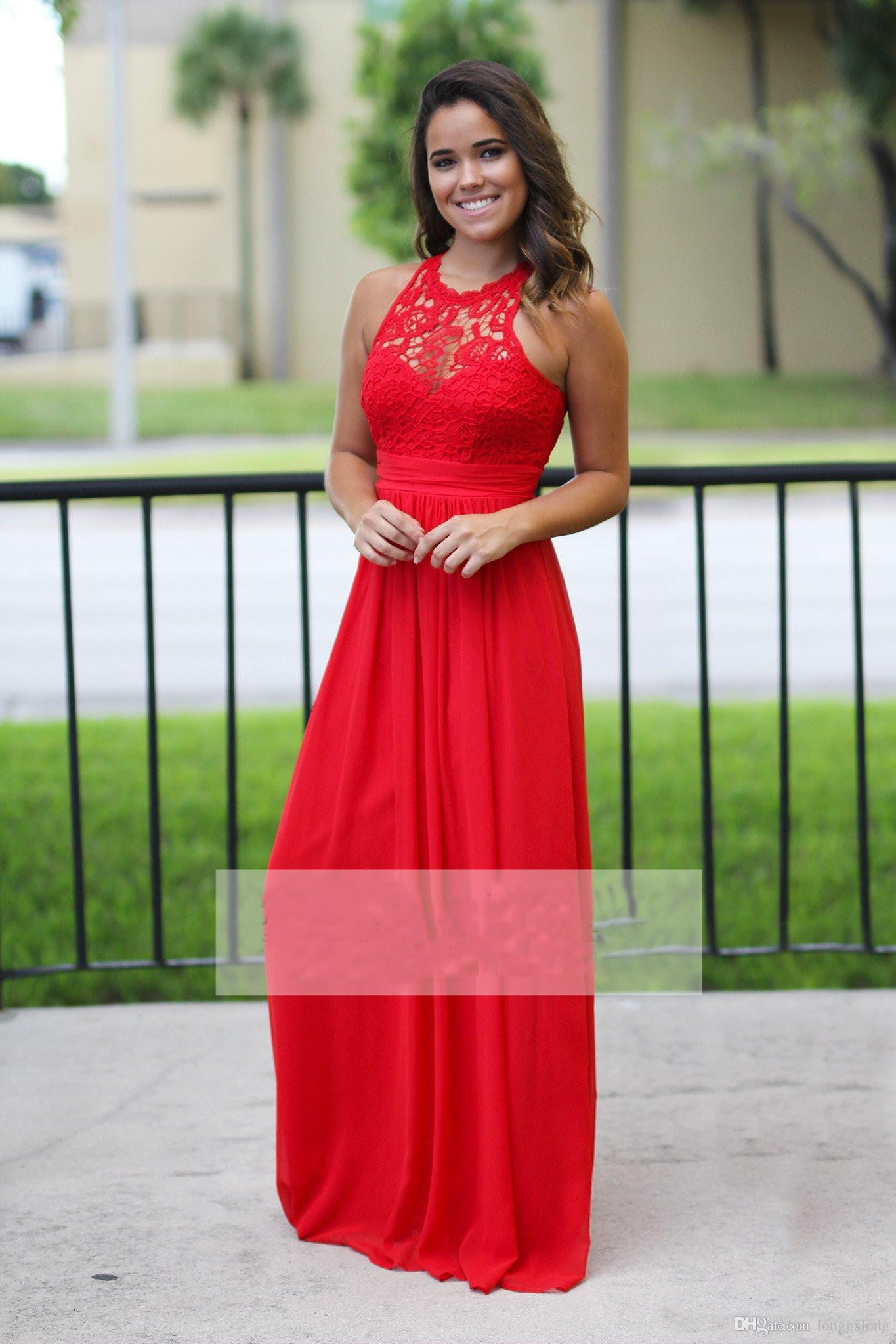Sexy long chiffon country bridesmaid dresses red lace bridesmaids sexy long chiffon country bridesmaid dresses red lace bridesmaids dress cheap beach sexy backless maxi dress ombrellifo Image collections