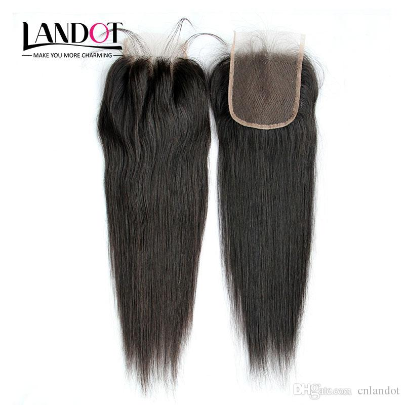 8a البرازيلي مستقيم الرباط اختتام 4x4 الحجم رخيصة الإنسان الشعر أعلى الدانتيل إغلاق قطعة الحرة / الأوسط / 3 طريقة جزء إغلاق اللون الطبيعي dyeable