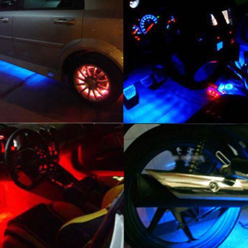 "Wholesale-2Pcs 6 ""Car Blue Undercar Underbody 네온 키트 조명 CCFL 냉 음극관"