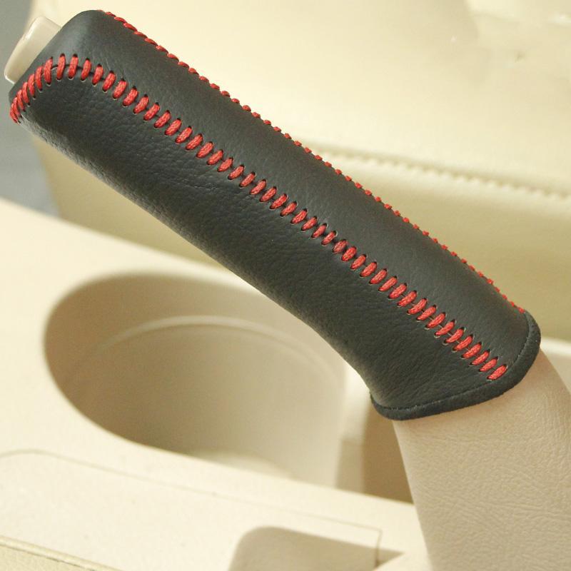 Чехол для KIA Cerato handbrake обложка стайлинга автомобилей натуральная кожа Handbrake обложка интерьер украшения автомобильные аксессуары