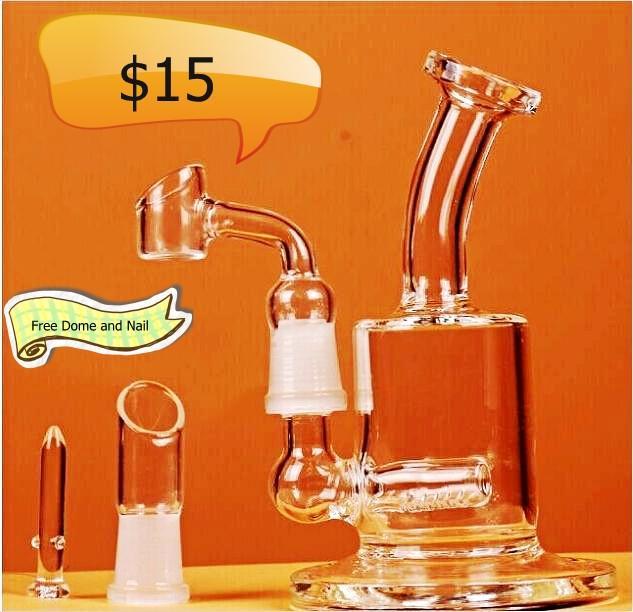Best-seller Mini Bongos 20 centímetros transparentes Bongos água Concentrado de vidro Caliane Recycler Oil Rigs Heady vidro Rigs Caliane vidro Bongs