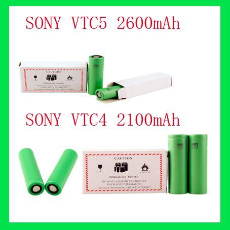 US18650 VTC5 VTC4 bateria litowa 18650 bateria 2600mAh / 3.7v / 30a pasuje wszystkie elektroniczne modyfikacje papierosów EPACTET 30 sztuk UPS 24 godziny Freeship