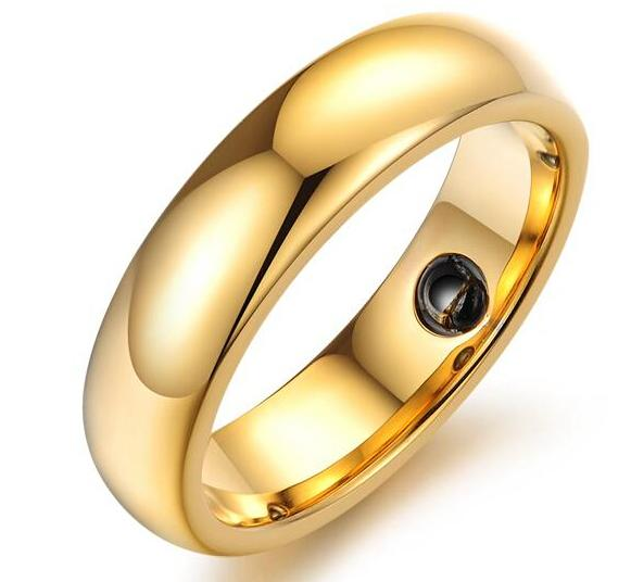 Vnox Men's tungsten rings high quality 18K Gold plated tungsten steel rings for men, Gold/rose gold/silver 6mm