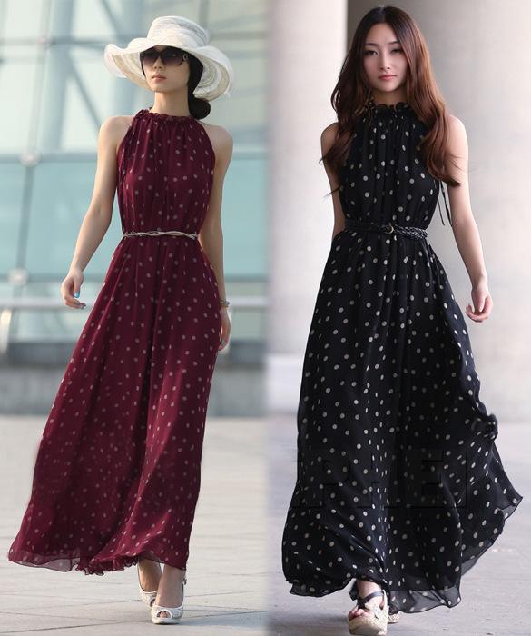 chiffon long casual dress