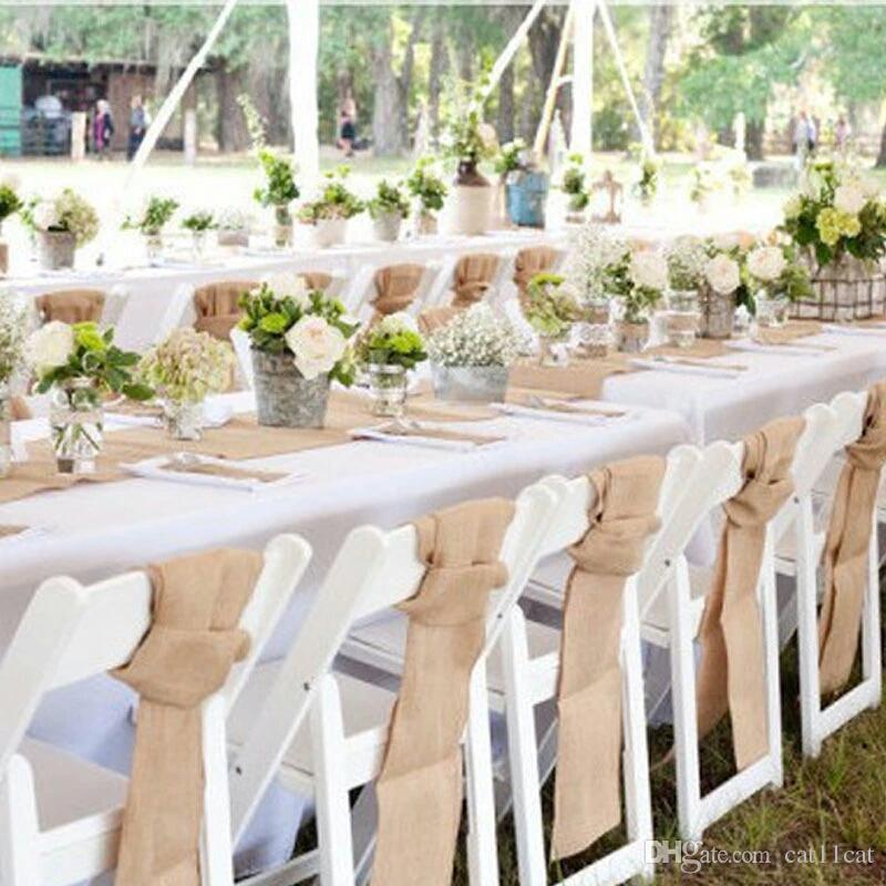 UK 10M Vintage Table Runner Burlap Hessian Ribbon Wedding Party Craft Decor