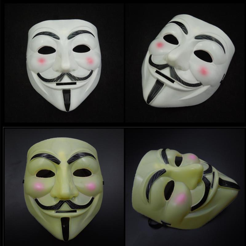 Halloween Mask V Mask for Vendetta Guy Fawkes Scary Fancy Dress Hip Hop Costume Full Face Party Mask Cosplay Anonymous Prop free shipping