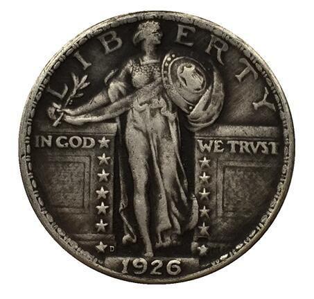 1926-D الدائمة ليبرتي الربع عملة نسخة شحن مجاني