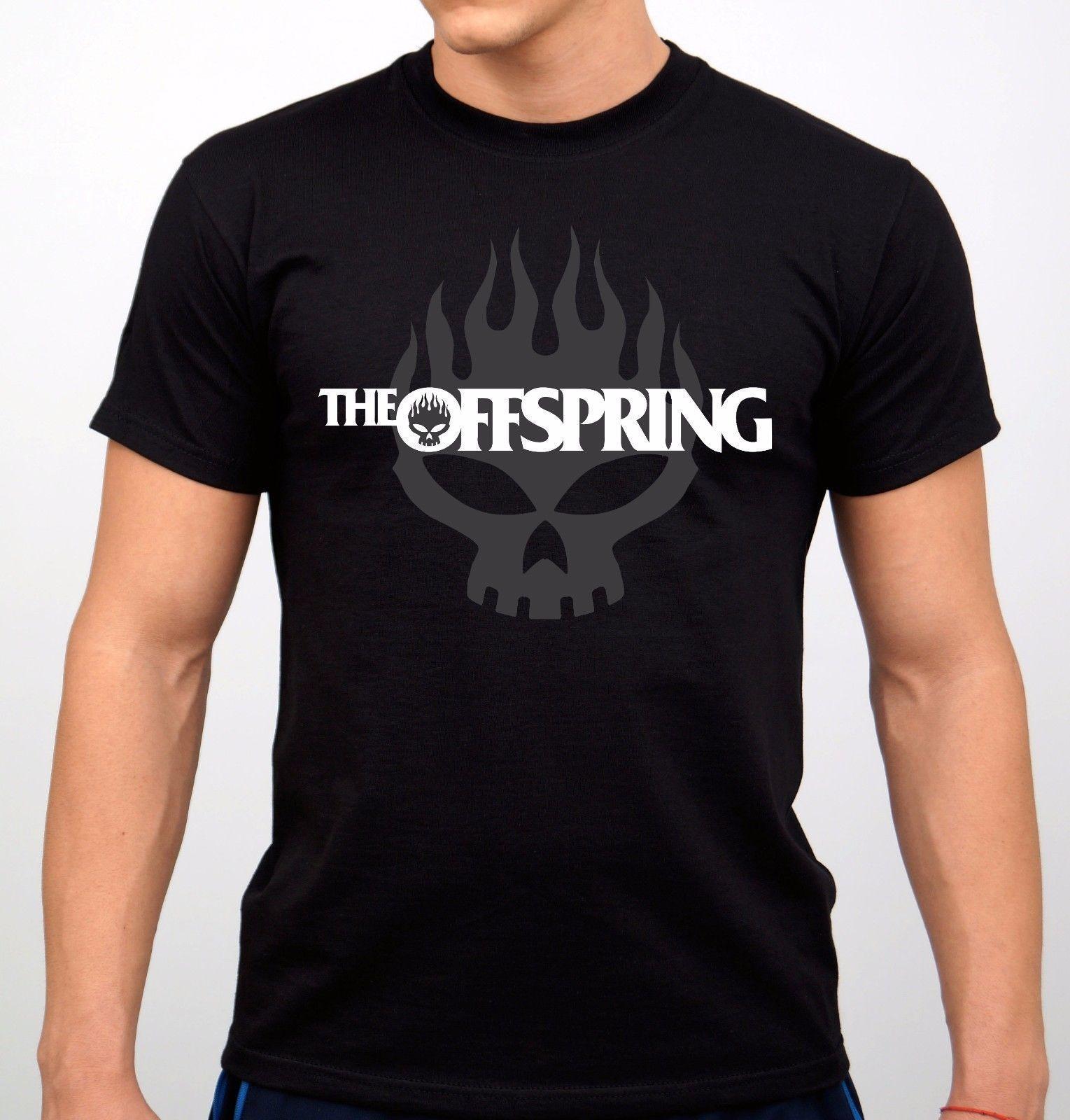 Mens The Offspring Band Logo Americana Pretty 100/% Cotton Tee T-Shirts