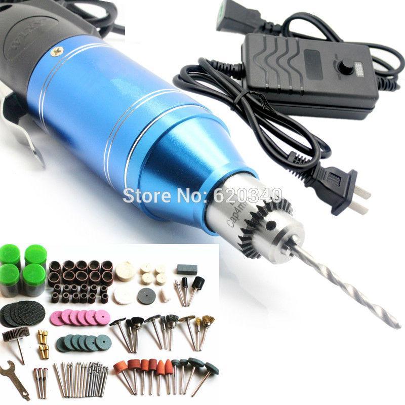 2015 Yeni ElectricTools, 2-in-1 Ayarlanabilir Mini Matkap + Elektrikli tornavida + 161 / adet oyma burnish sondaj makinesi İşlevli sipariş $ 18no