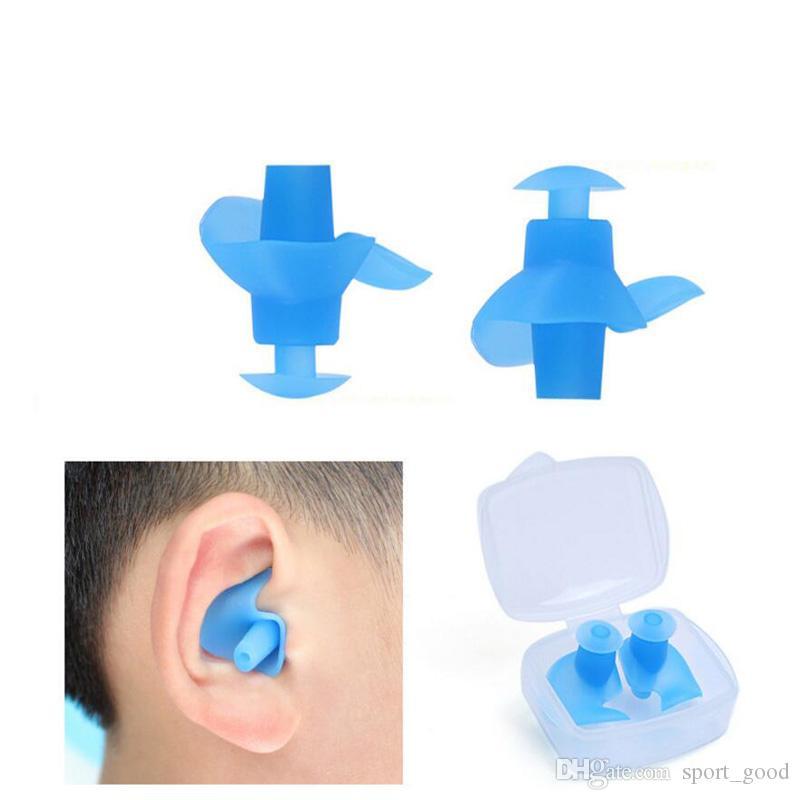 O envio gratuito de tampões de natação tampões de silicone à prova d 'água shampoo banhando confortável adulto mulheres homens de banho de natação tampões de ouvido