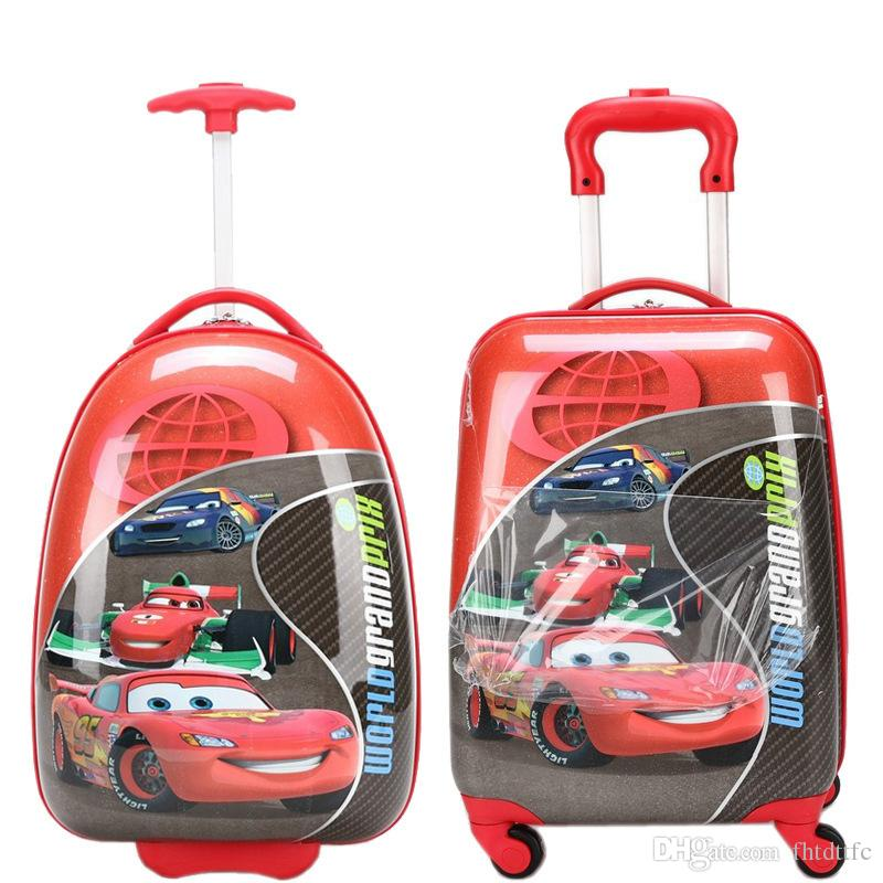 Brand New Korean Cartoon Kids Rolling Luggage Children Trolley ...