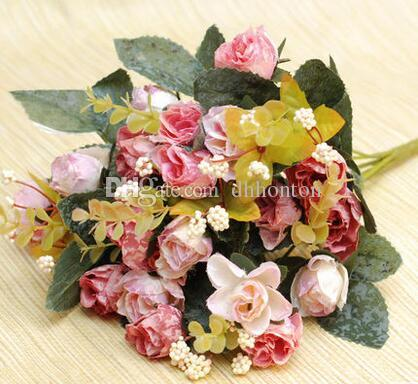european style rose silk rose flower home room decoration good quality cheap price artificial flowers wholesale