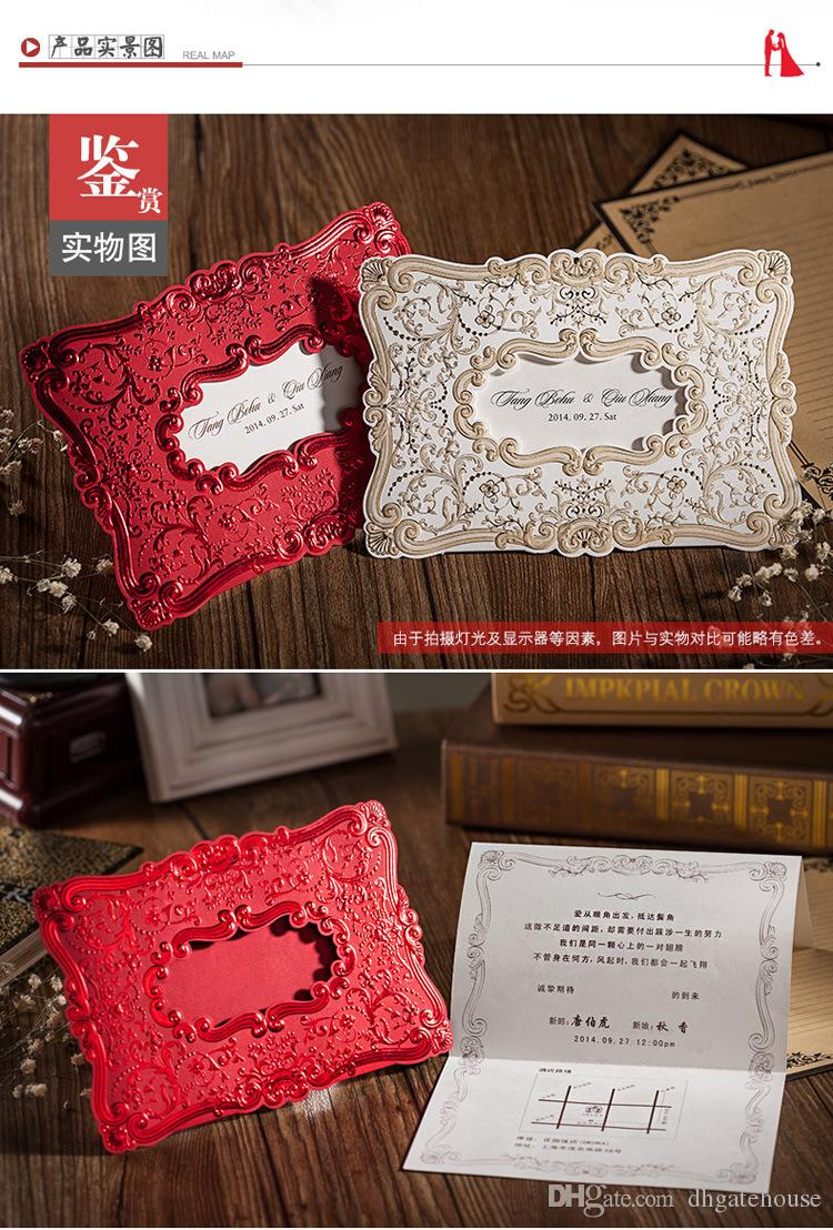 Luxury Wedding Invitations Free Customize Inner Sheets Flower ...