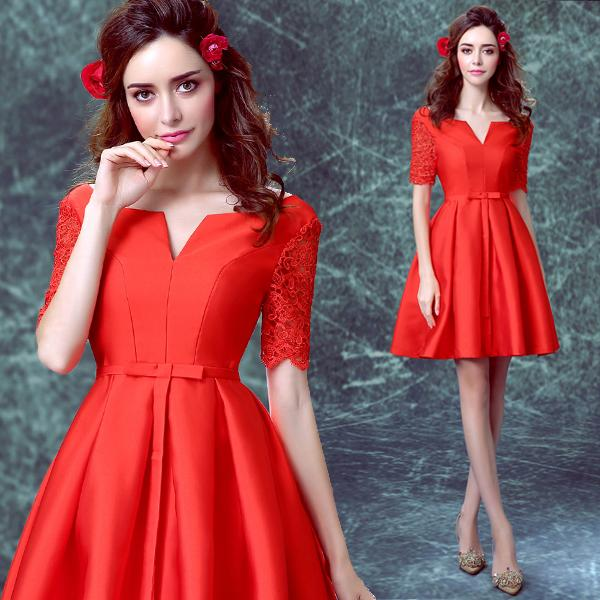 Red Cocktail Dress 2016 New Sexy Backless Fashion Homecoming ...