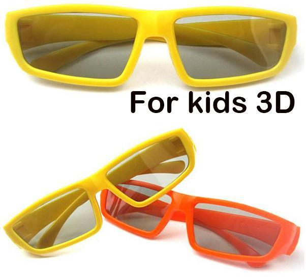 Frete Grátis Hot New Kid Polarized TV Crianças 3D Óculos Terno para crianças LG Cinema Passiva TVs 3D e RealD Cinema YJ11