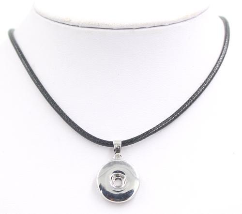 Venta al por mayor de 18 mm joyería de la joyería de la PU de la PU con botón de 18 mm de collar de chunky