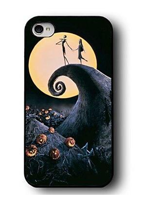 Nightmare Before Christmas Phone Case.Custom The Nightmare Before Christmas Hard Durable Cell Phone Shell Case For Iphone 4 4s 5 5s 5c 6 6plus Leather Phone Cases Cell Phone Wallet From