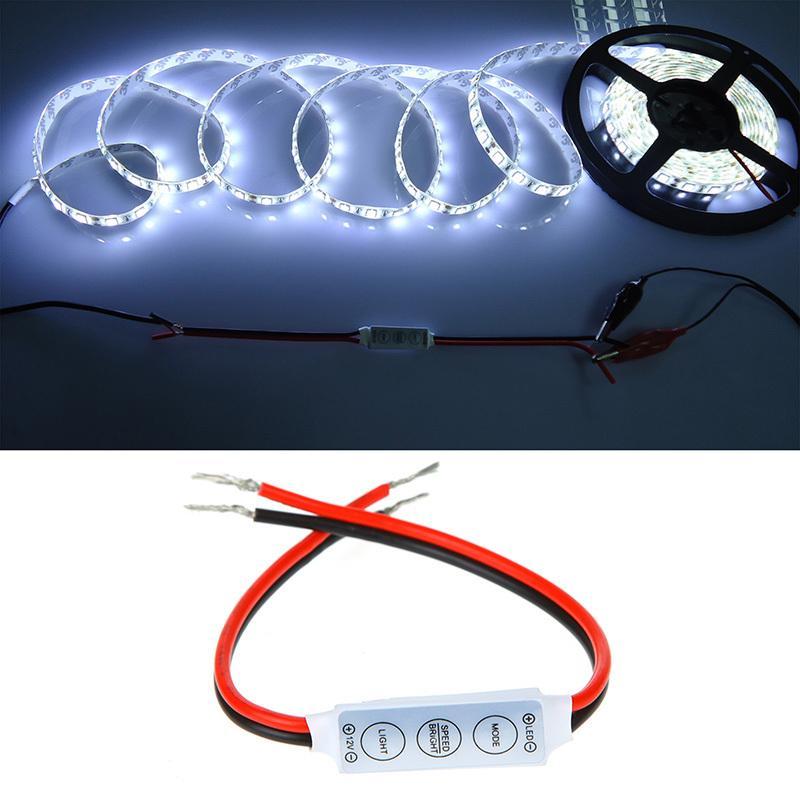 Freier Verschiffen Minicontroller-Dimmer für 5050 3528 RGB LED Streifenschnur-Licht 12V 6A 3 Schlüssel