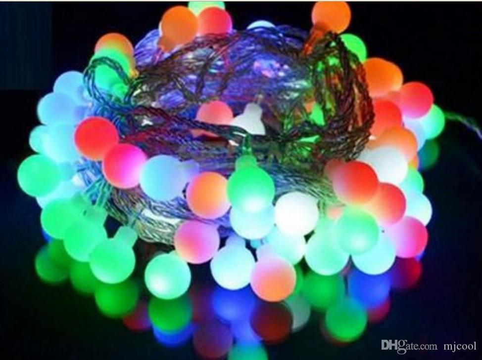 50 متر 300 المصابيح الصغيرة فانوس الكرة مصباح الإضاءة مصابيح زينة الزفاف عطلة عيد نجمة خارج قلادة مصباح سلسلة AC110V-250V