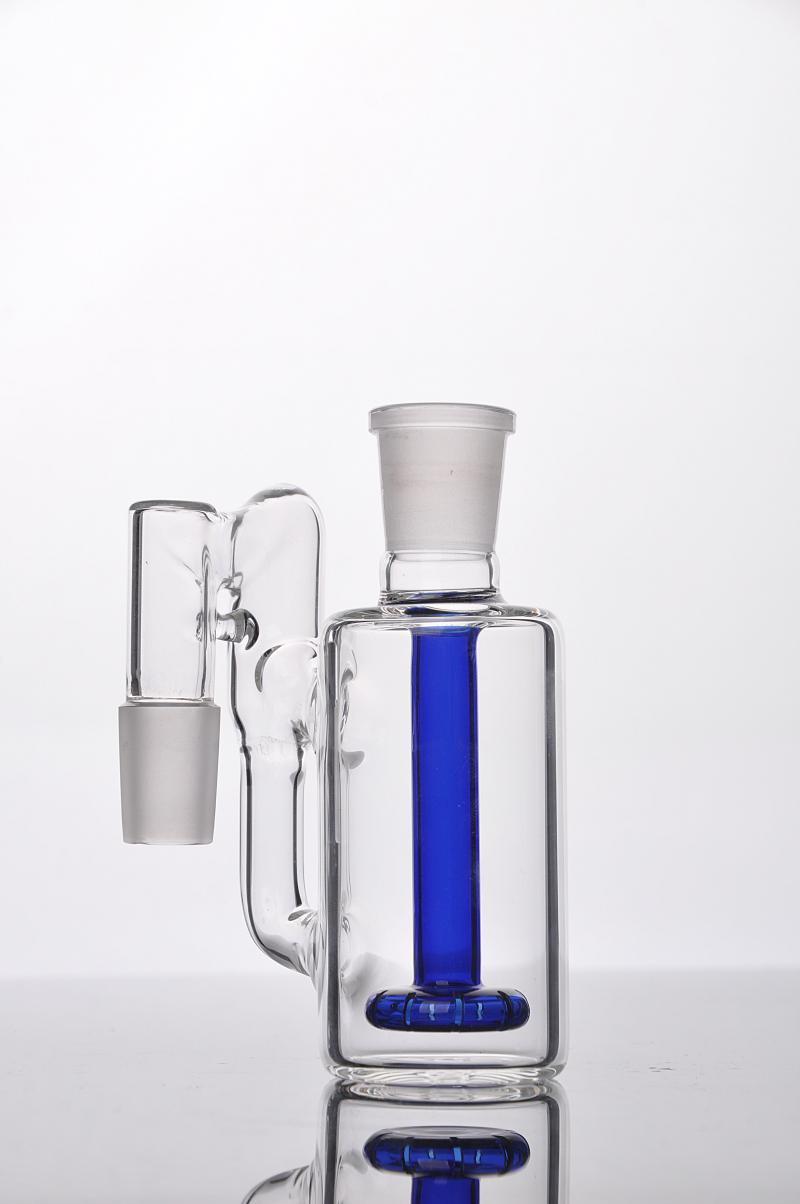 spedizione gratuita 2016 Soffione Posacenere con Riciclatore d'acqua 18,8 mm ad angolo retto per bong di vetro acqua