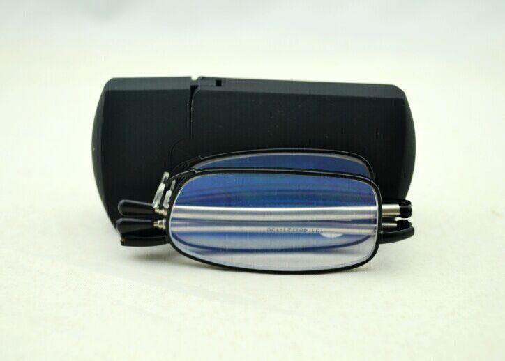 Hoge kwaliteit opvouwbare leesbril met harde case, zwart flexibele lezer gratis verzending