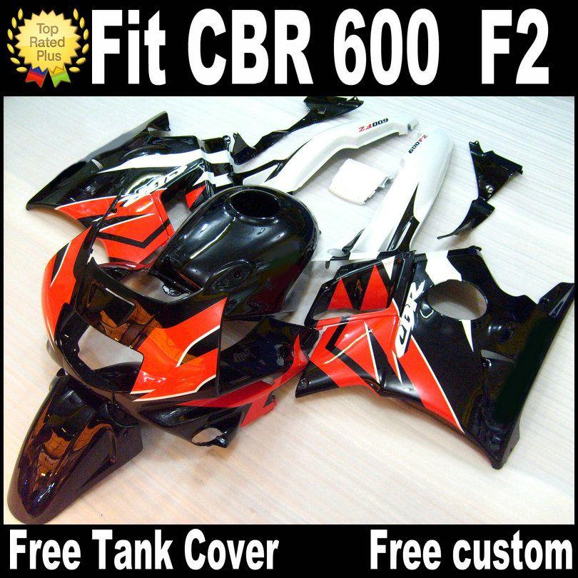 Free 7 Gifts for HONDA CBR 600 F2 custom fairings 1991 1992 1993 1994 black white red CBR600 91 - 94 fairing kit RP4