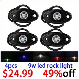 4pcs 9w led rock light