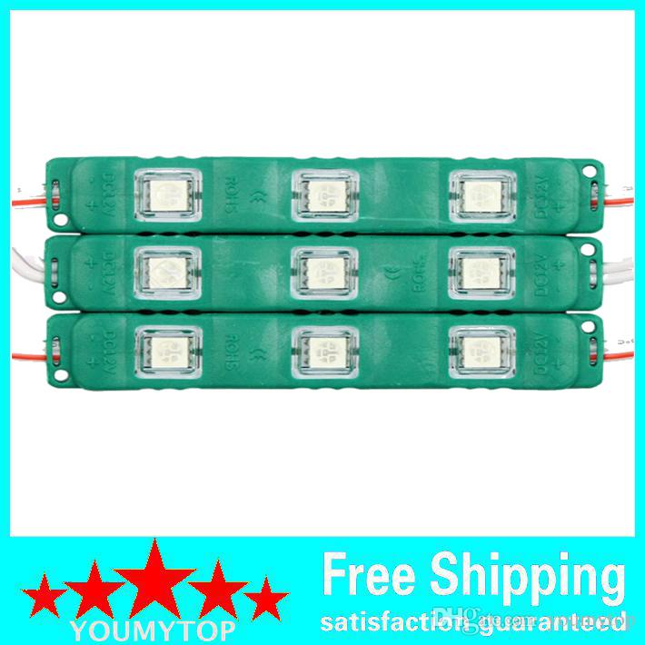 Brand New 5050 3LEDs Led Modules Lights With Cover Lens Waterproof Injection ABS Led Lights Modules 12V Best For Billboard Backlight