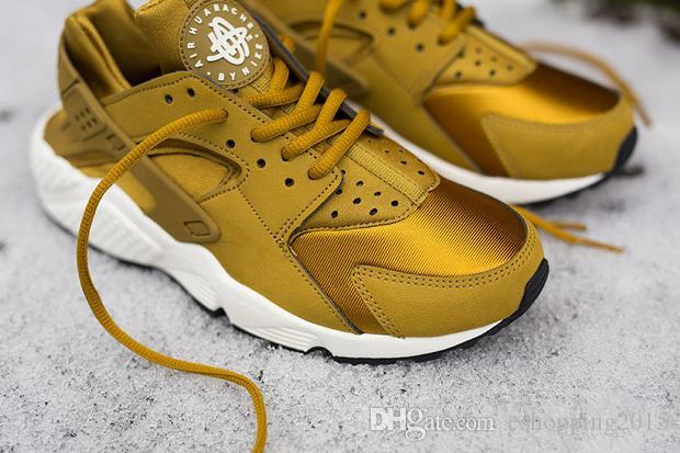 new style 86249 58dae Gold Black Men'S Air Huarache Mens Sneakers Breathable Running Shoe  Huaraches Sports Huaraches With Original Box Lightweight Running Shoes  Trail ...
