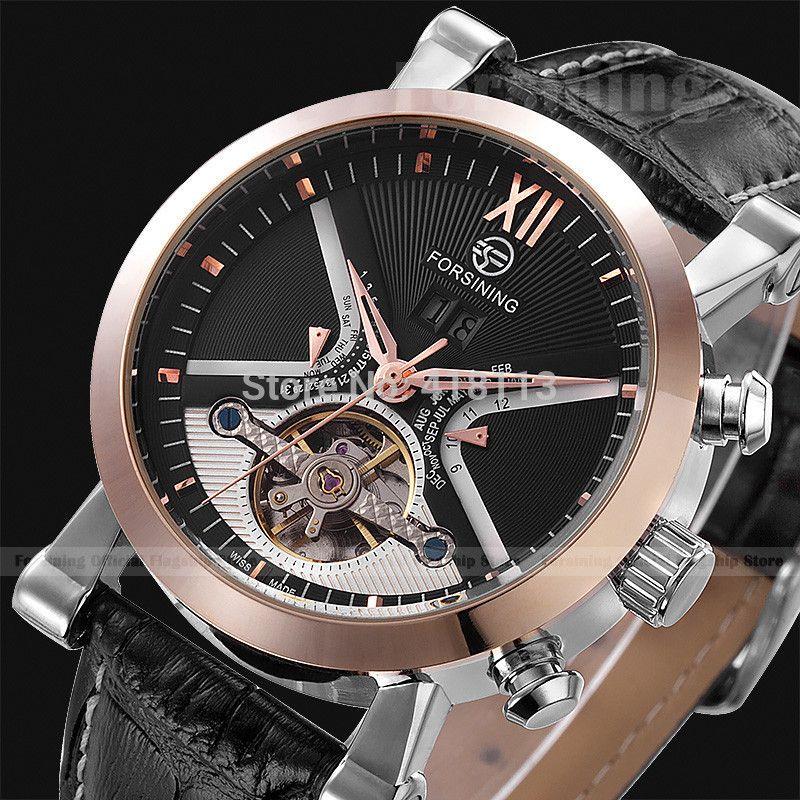 Orologio Uomo JARAGAR Tourbillion Auto Mechanical Watch Mens Watches Top Brand Luxury Atmos Clock Montre Hombre Reloj Relojes