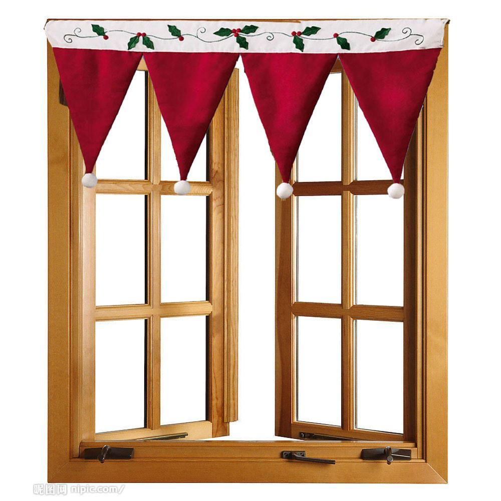 Christmas Door Window Drape Curtain Decorative Indoor Home ...