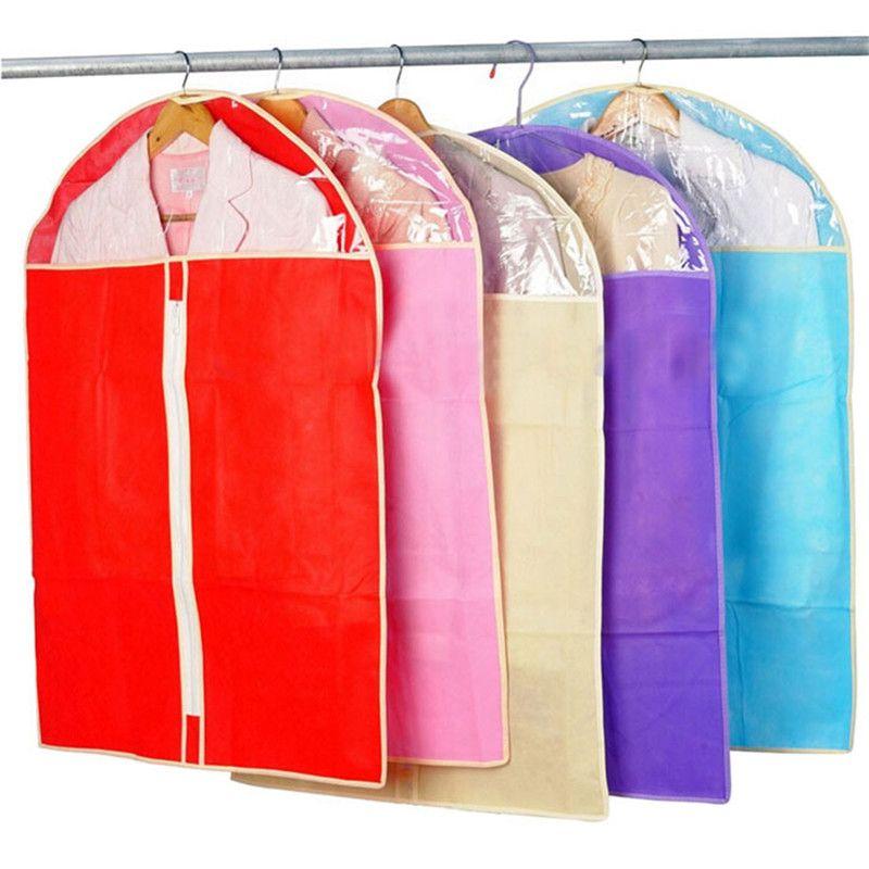 Wholesale- Fashion Home Dress Clothes Garment Suit Cover Case Dustproof Skirt Storage Bags Protector Clothes bag
