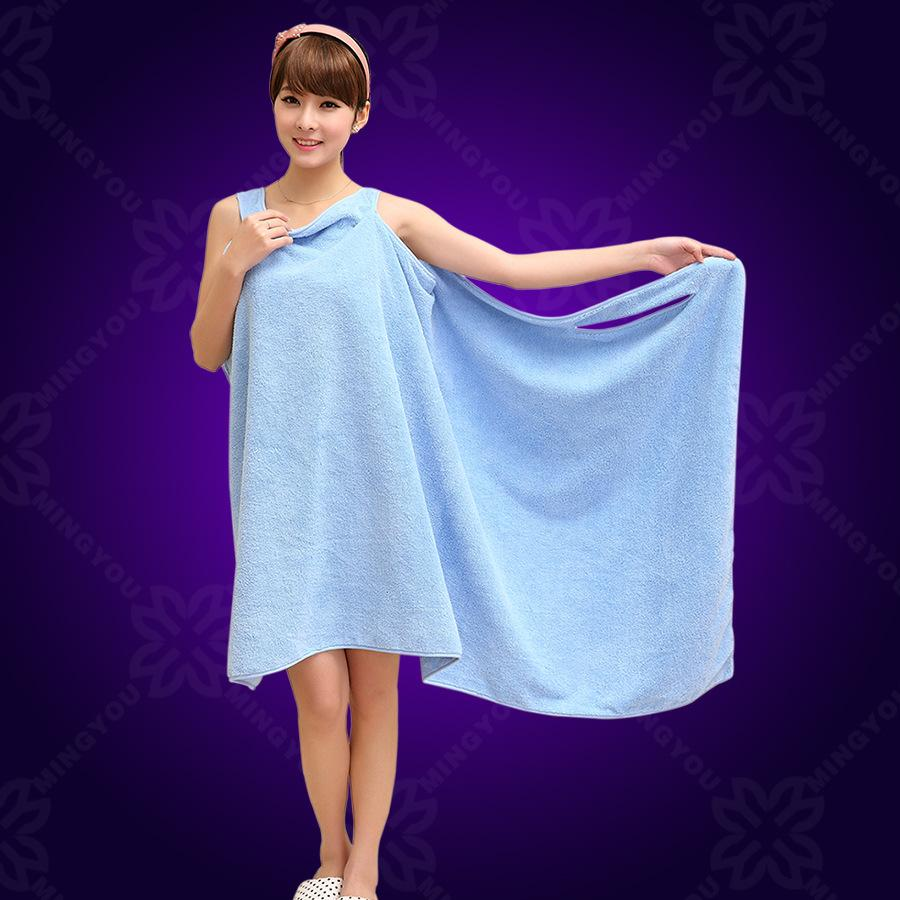 Hot Sales Women Lady Spa Shower Robe Body Wrap Bath Towel Bathrobe ...