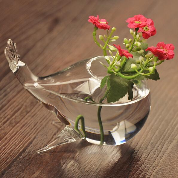 DHgate.com & Glass Vases Wholesale Wedding Glass Vases DIY Fish Shape Flower Vases Home Decoration Flower Pots Planters Fish Glass Vase Bulk Art For Sale Vase ...