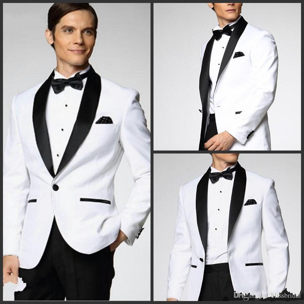 Mens Wedding Suits Groomsman Men Prom Suits Bridegroom One Button Custom Made