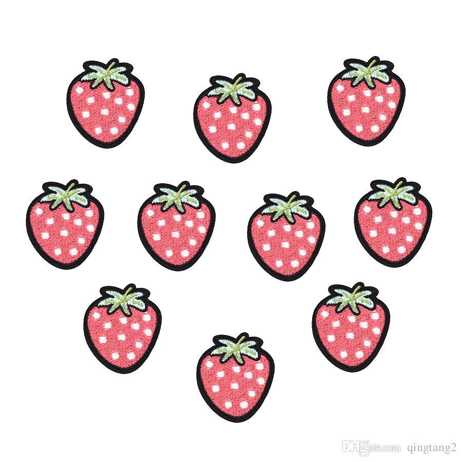 10 STÜCKE Erdbeere Eisen auf Transfer Applique Patch für Kleidung Taschen Stickerei Patches für Kleidungsstück Jeans DIY Nähen auf Stickerei Abzeichen