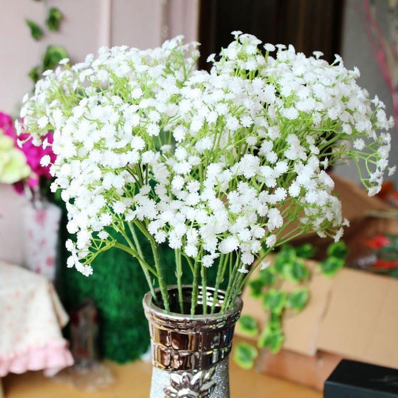 Pretty 10Pcs/lot Gypsophila Baby's Breath Artificial Fake Silk Flowers Plant Home Wedding Decoration #54986