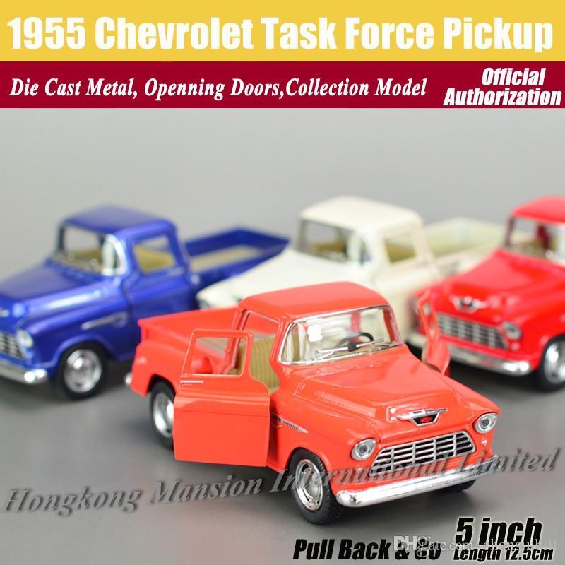 1:36 مقياس دييكاست سبيكة معدنية نموذج سيارة الكلاسيكية لعام 1955 شيفروليه مهمة بيك اب جمع نموذج التراجع اللعب سيارة