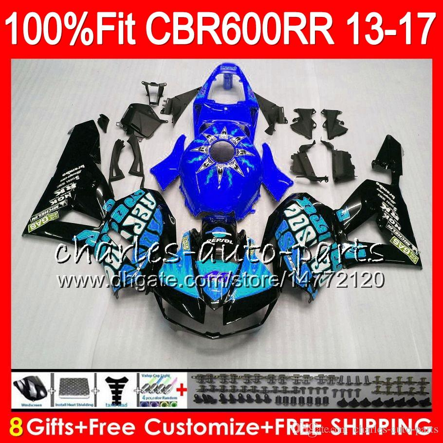 Injection Body For HONDA CBR 600 RR Repsol cyan CBR600RR 13 14 15 16 17 89NO27 CBR 600RR F5 CBR600 RR 2013 2014 2015 2016 2017 Fairing kit